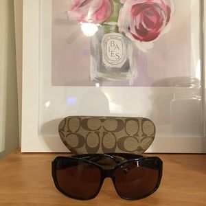 Coach Accessories - Coach Nina Sunglasses-Tortoise Brown